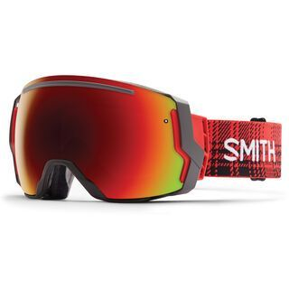 Smith I/O 7 + Spare Lens, woolrich hunter hunt/red sol-x mirror - Skibrille