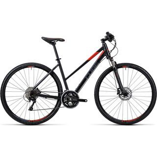 Cube Cross Trapeze 2016, black grey red - Fitnessbike