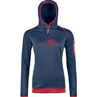 Ortovox Merino Fleece Logo Hoody W, night blue - Fleecehoody