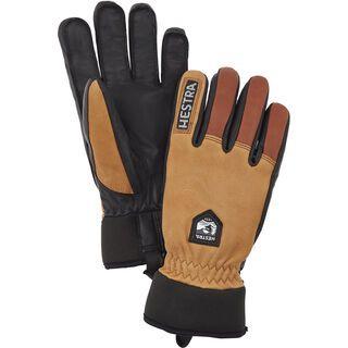 Hestra Army Leather Wool Terry 5 Finger, kork/braun - Skihandschuhe
