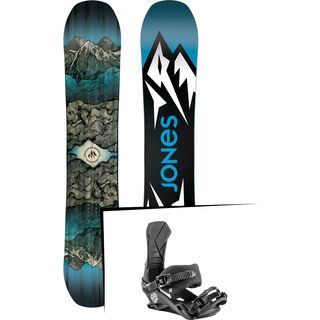 Set: Jones Mountain Twin Wide 2019 + Nitro Team Nitro x drink water