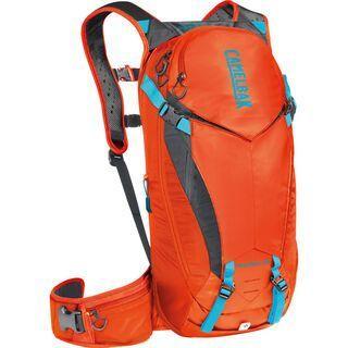 Camelbak K.U.D.U. Protector 10 - S/M, red orange / charcoal - Fahrradrucksack