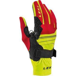 Leki Tour Mezza V Glove, gelb-rot-schwarz - Skihandschuhe