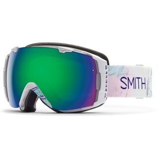 Smith I/O Womens + Spare Lens, white wanderlust/green sol-x mirror - Skibrille