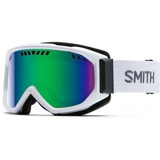 Smith Scope, white/green sol-x mirror - Skibrille
