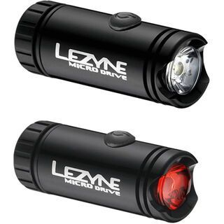 Lezyne LED Micro Drive Set, gloss black - Outdoorbeleuchtung