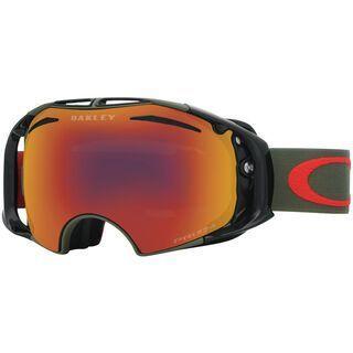 Oakley Airbrake inkl. Wechselscheibe, dark black/Lens: prizm torch iridium - Skibrille