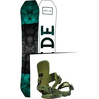 Set: Ride Helix 2017 + Ride Rodeo 2016, forest - Snowboardset