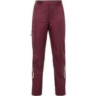 Vaude Women's Tremalzo Rain Pants, claret red - Radhose
