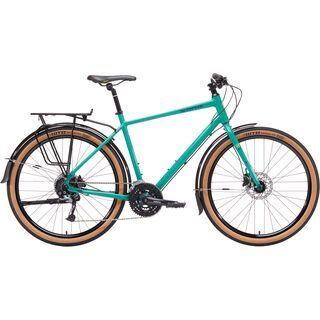 Kona Dew Deluxe 2019, seafoam w/ yellow - Urbanbike