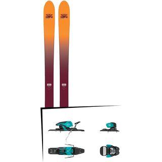 Set: DPS Skis Wailer F99 Foundation 2018 + Salomon Warden 11 turquoise/black