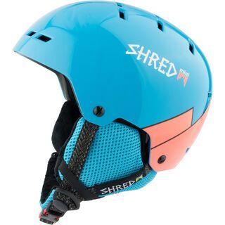 Shred Bumper Mini, wee blue rust - Skihelm