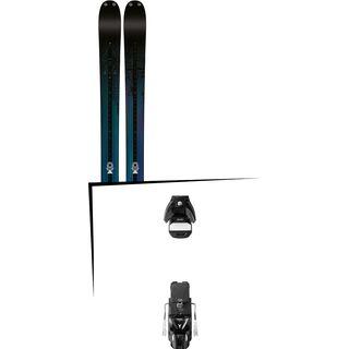Set: K2 Shreditor 92 2016 + Atomic STH 13 WTR 100 mm, black/gun metal - Skiset