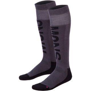 Mons Royale Women's Tech Snow Sock, charcoal black pink - Socken