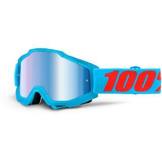 100% Accuri inkl. Wechselscheibe, acidulous cyan/Lens: mirror blue - MX Brille