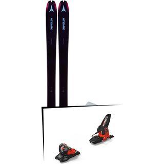 Set: Atomic Backland 85 W + Hybrid Skin 85 2019 + Marker Jester 18 Pro ID black/flo-red