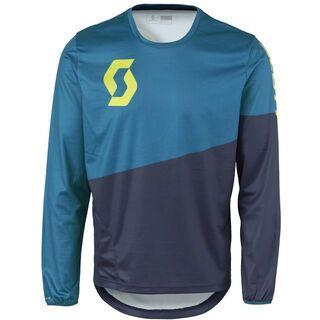 Scott Progressive Pro l/sl Shirt, blue/yellow - Radtrikot