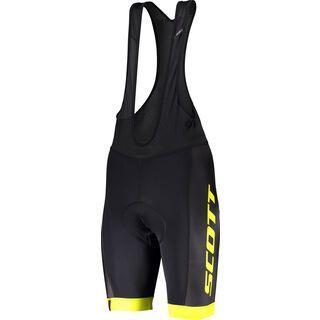 Scott RC Team ++ Men's Bibshorts, black/sulphur yellow - Radhose