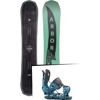 Set: Arbor Element Mid Wide 2017 + Flow NX2 2016, blue - Snowboardset