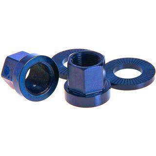 Salt Aluminium Mutter, 14 mm, Paar, blau