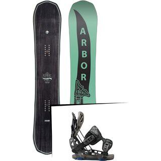 Set: Arbor Element 2017 + Flow NX2-GT 2017, black - Snowboardset
