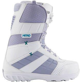 Nitro Fader TLS, White-Faded Purple - Snowboardschuhe