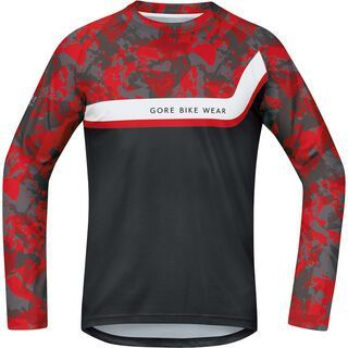 Gore Bike Wear Power Trail Jersey lang, camo orange - Radtrikot