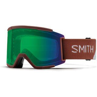 Smith Squad XL inkl. Wechselscheibe, adobe split/Lens: everyday green mirror chromapop - Skibrille