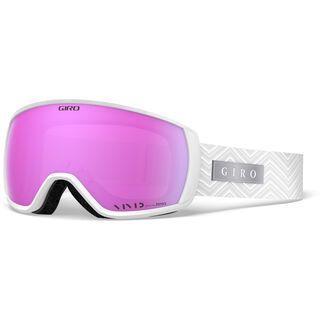 Giro Facet, white zag/Lens: vivid pink - Skibrille