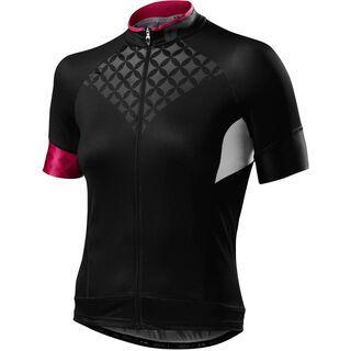 Specialized Women's SL Pro Jersey SS, black/pink - Radtrikot