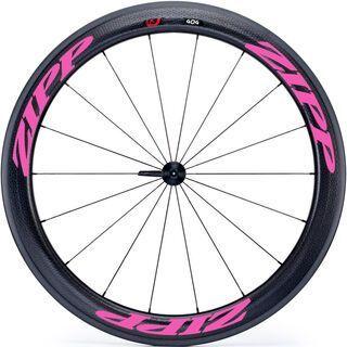 Zipp 404 Firecrest Tubular, schwarz/pink - Vorderrad