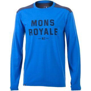 Mons Royale Riders Crew, blue charcoal - Longsleeve