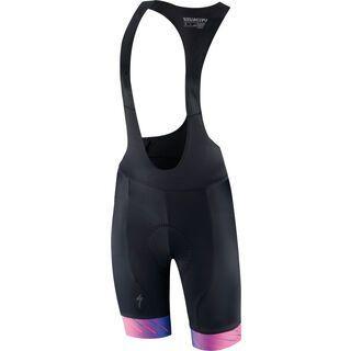 Specialized Women's SL Bib Short, pro blue/acid pink - Radhose