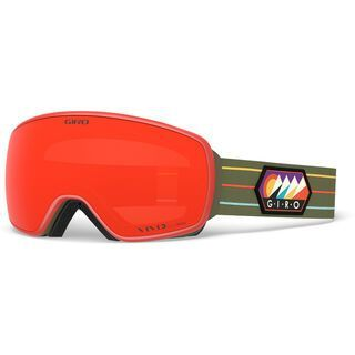 Giro Agent inkl. WS, camp out/Lens: vivid ember - Skibrille