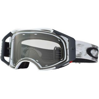 Oakley Airbrake MX, matte white speed/clear - MX Brille