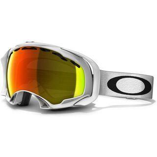 Oakley Splice, Polished White/Fire Iridium - Skibrille