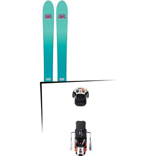 Set: DPS Skis Nina F99 Foundation 2018 + Atomic Warden MNC 13 white/black/orange