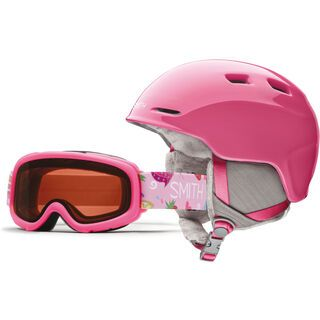 Smith Gambler X Combo, bright pink/rc36 - Snowboardhelm