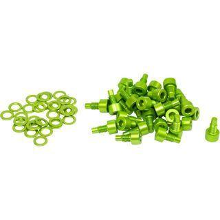 NC-17 Pedal Pins 32 Stück M4x 8mm, green