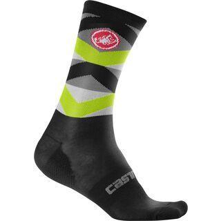 Castelli Fatto 12 Sock black/yellow fluo