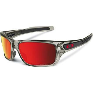 Oakley Turbine, grey ink/Lens: ruby iridium polarized - Sonnenbrille