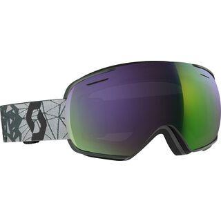 Scott Linx, grey/black/Lens: ampli green chr - Skibrille