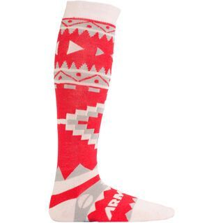 Armada Double Diamond Merino Sock, red - Socken