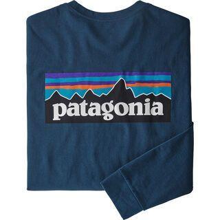 Patagonia Men's Long-Sleeved P-6 Logo Responsibili-Tee, crater blue
