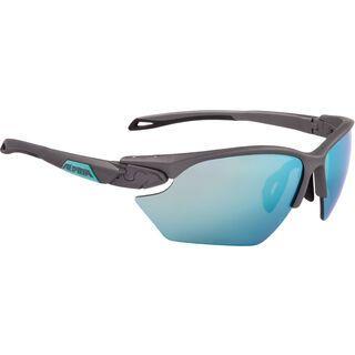 Alpina Twist Five HR S, tin matt-emerald/Lens: ceramic emerald mirror - Sportbrille
