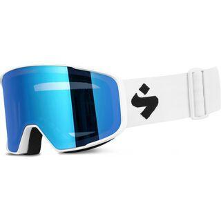Sweet Protection Boondock RIG Reflect, satin white/Lens: RIG aquamarine - Skibrille