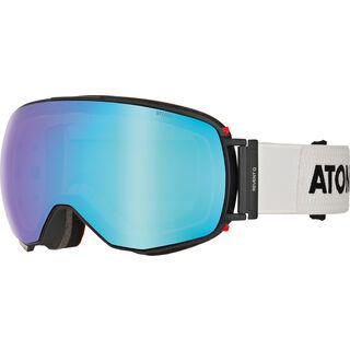 *** 2. Wahl *** Atomic Revent Q Stereo + Wechselscheibe, white/Lens: blue stereo - Skibrille  