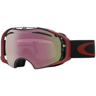 Oakley Airbrake inkl. Wechselscheibe, iron brick/Lens: prizm hi pink iridium - Skibrille