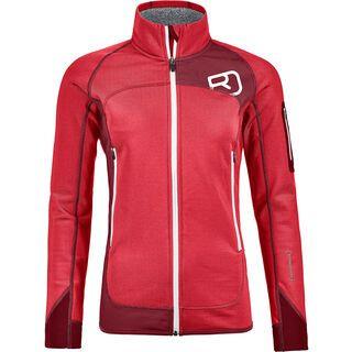 Ortovox Merino Fleece Plus Jacket W, hot coral - Fleecejacke