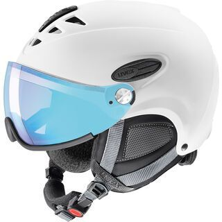 uvex hlmt 300 visor vario, white mat - Skihelm